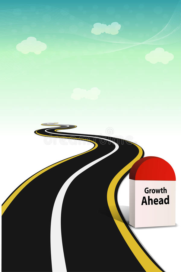 Way with mile stone vector illustration