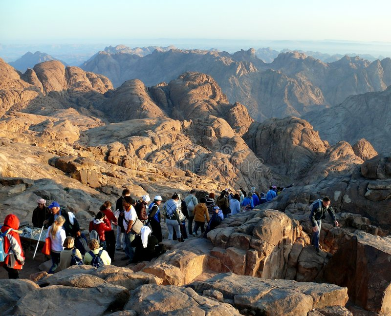 Way from Mount Sinai. Egypt royalty free stock image
