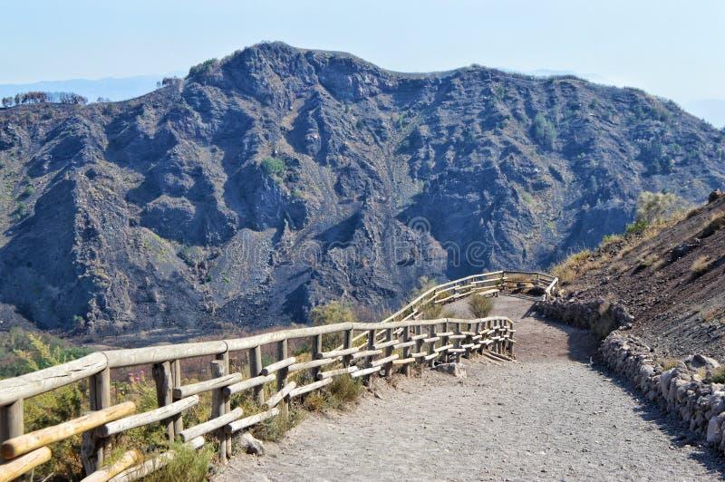 Way from mount Vesuvius. Naples, italx, italy, mountain, volcanic, lava, eruption, pompeii, tracel, travel, rock, volcano royalty free stock photos