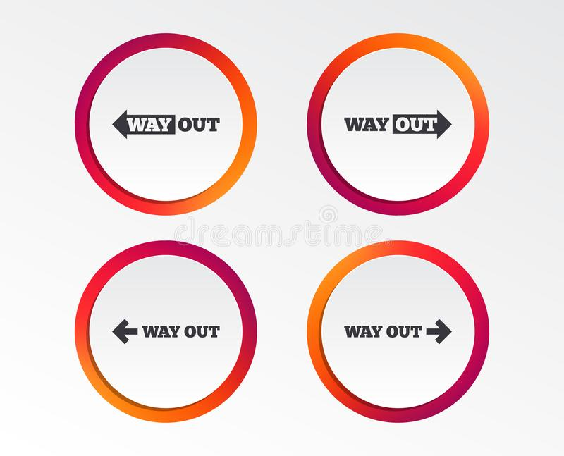 Way Out Icons Left And Right Arrows Symbols Stock Vector