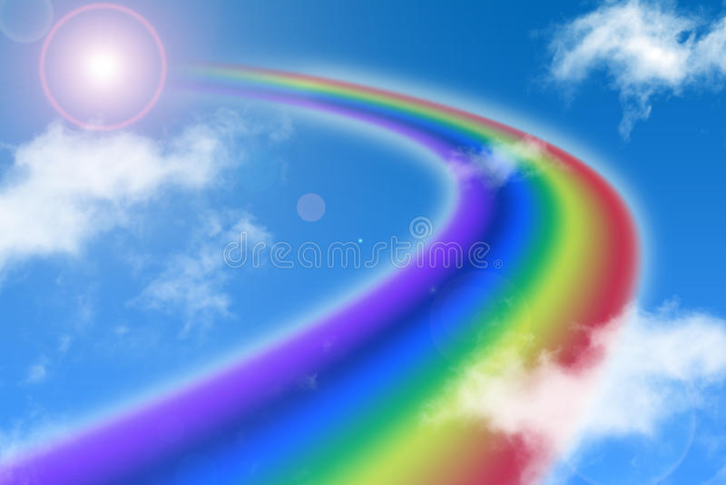 Way of rainbow royalty free stock image
