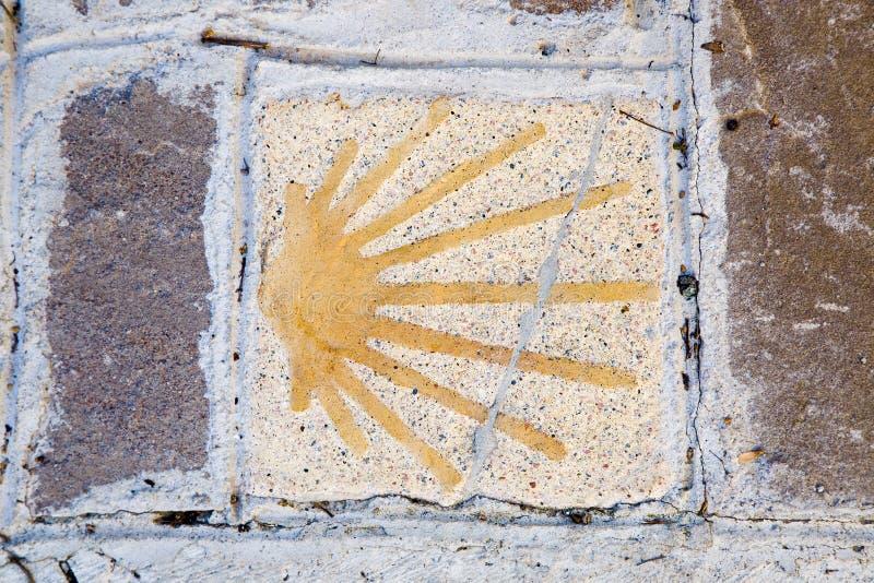 Way Saint James symbol royalty free stock image