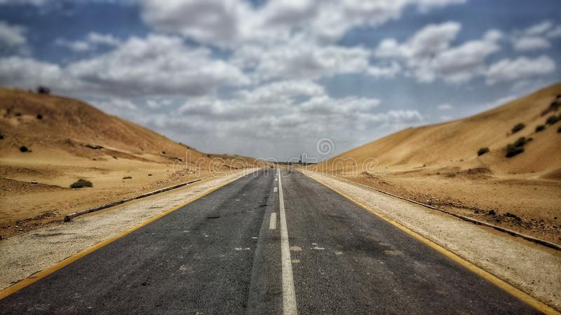 Way through the sand royalty free stock photography