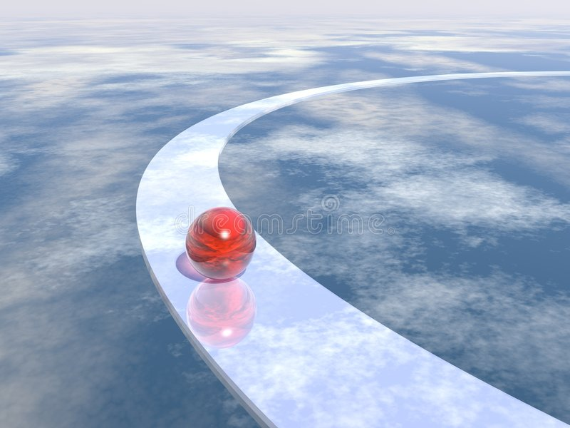 Download Way and sky stock illustration. Illustration of mirror - 2032625