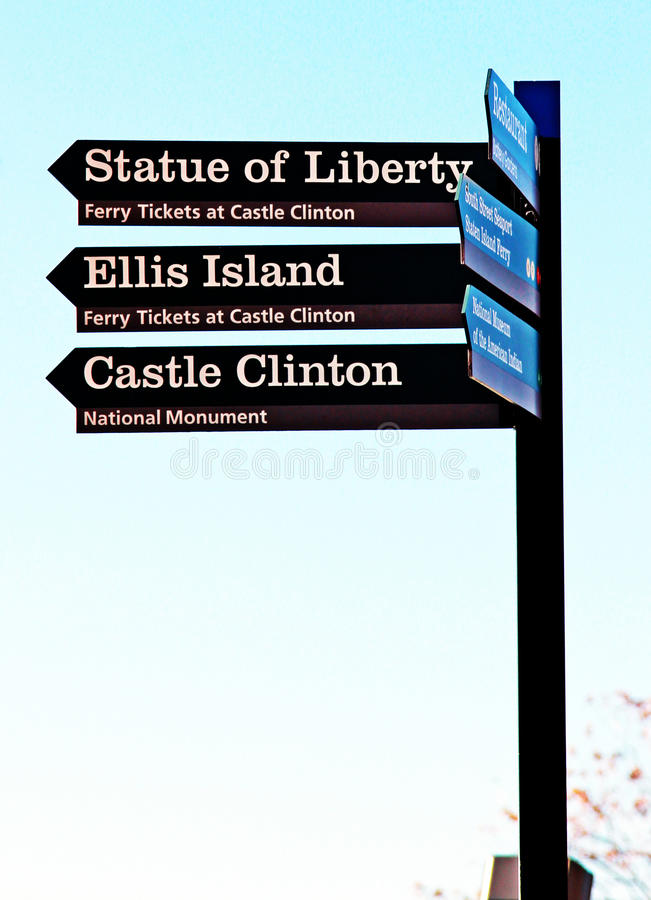 Download This Way To stock photo. Image of clinton, liberty, island - 17019428