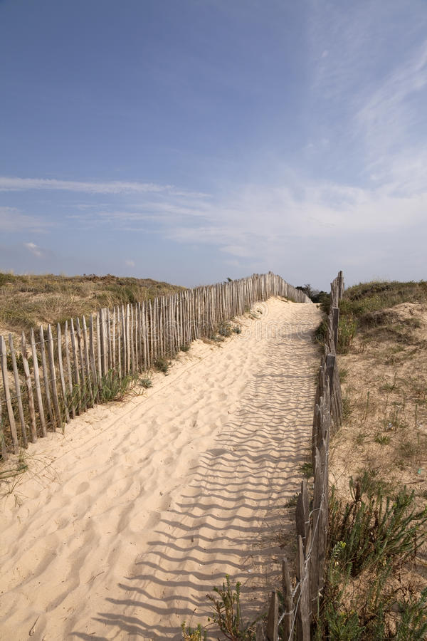 Download Way to the beach stock image. Image of cloud, coast, arcachon - 21239513