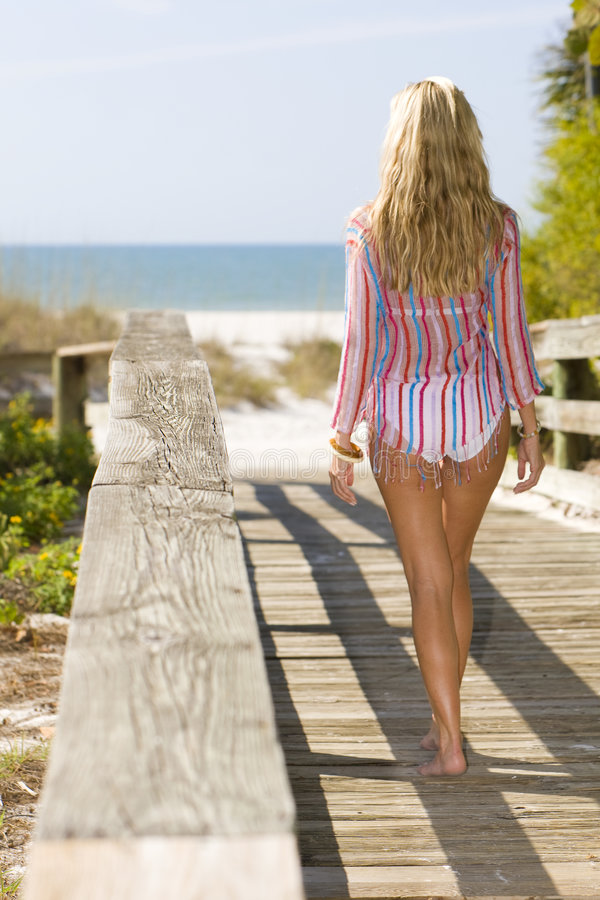 Download On The Way To The Beach stock photo. Image of bridge, nature - 4410980
