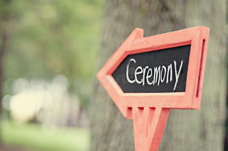 Way to ceremony stock photo