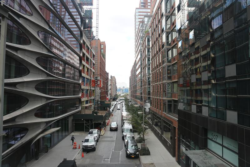 City Street New York City, Manhattan royalty free stock photo