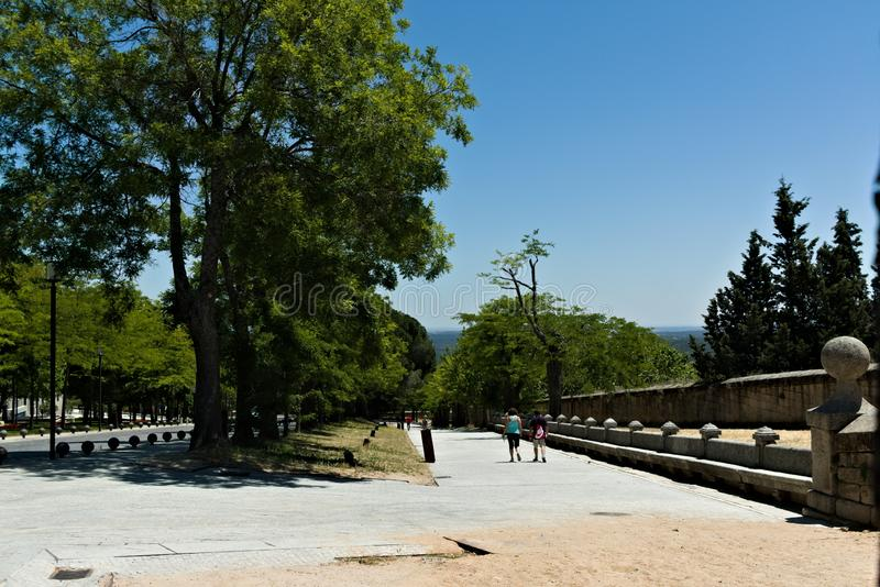 On the way to El Escorial, Spain. royalty free stock photo