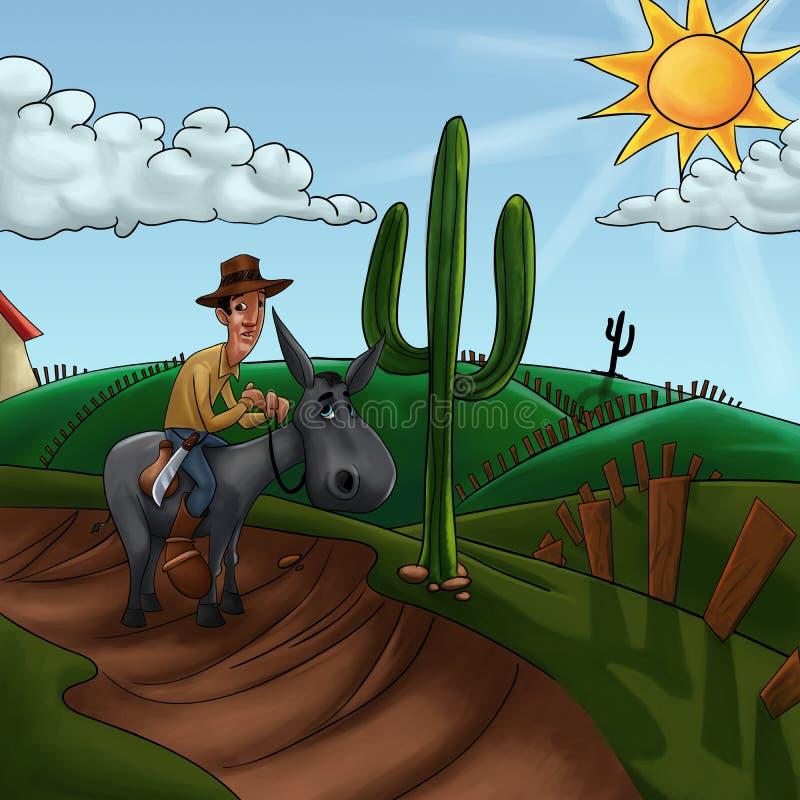 Way to the farm royalty free illustration