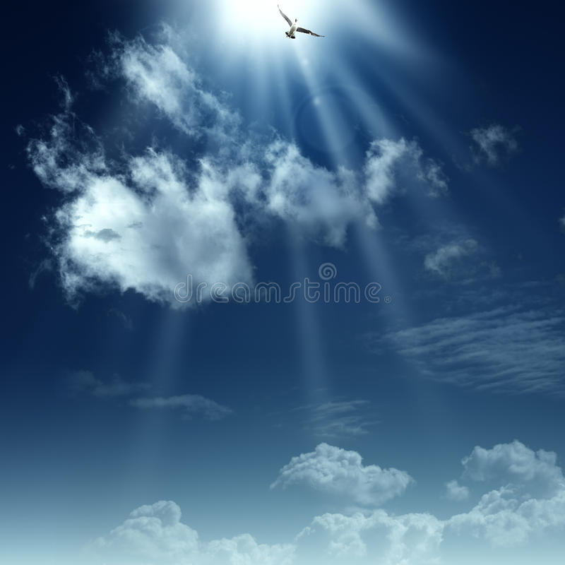 Way to heaven. royalty free stock photography