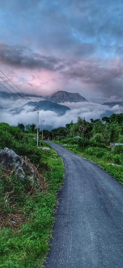 Way to heaven. Hills view from road side. Himalaya stock images