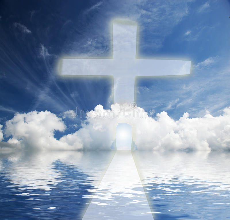 Way to heaven, new life stock image