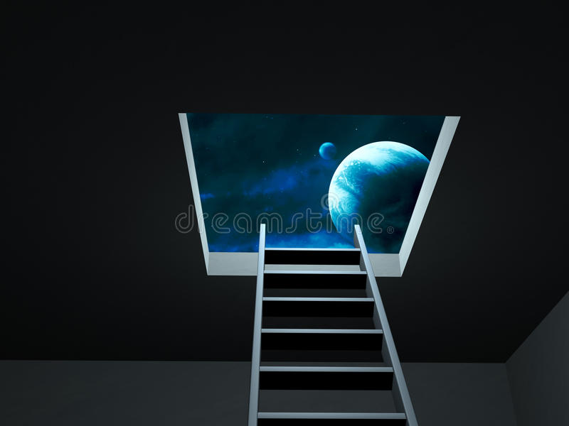 Download Way to imagination stock illustration. Image of inside - 13637177