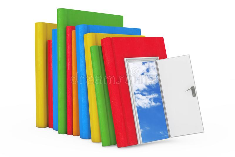 Way to Knowledge, Education and Reading concept. Stack of Color royalty free illustration