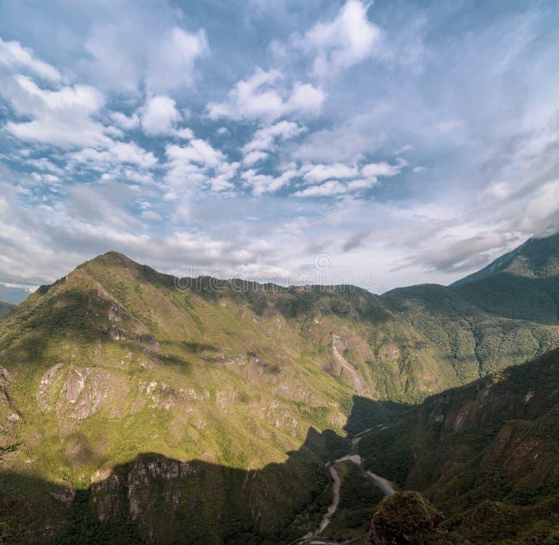 Way to the last Inca bridge, Machu Picchu in Peru - lost city of Inca. Indigenous, cusco, cloud, forest, architecture, scenic, culture, america, landmark stock image