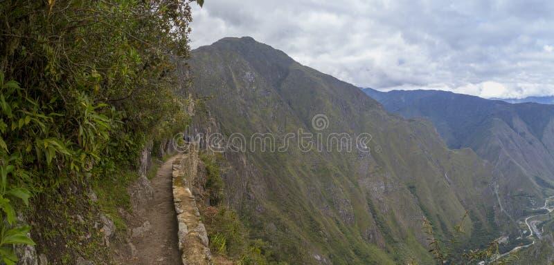 Way to the last Inca bridge, Machu Picchu in Peru - lost city of Inca. Indigenous, cusco, cloud, forest, architecture, scenic, culture, america, landmark stock photos