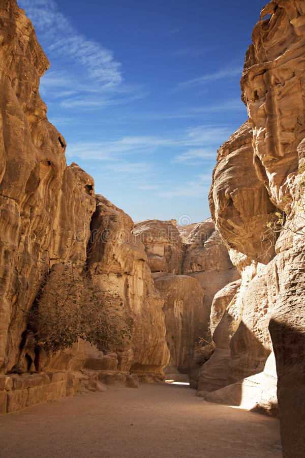 Way to Petra stock images
