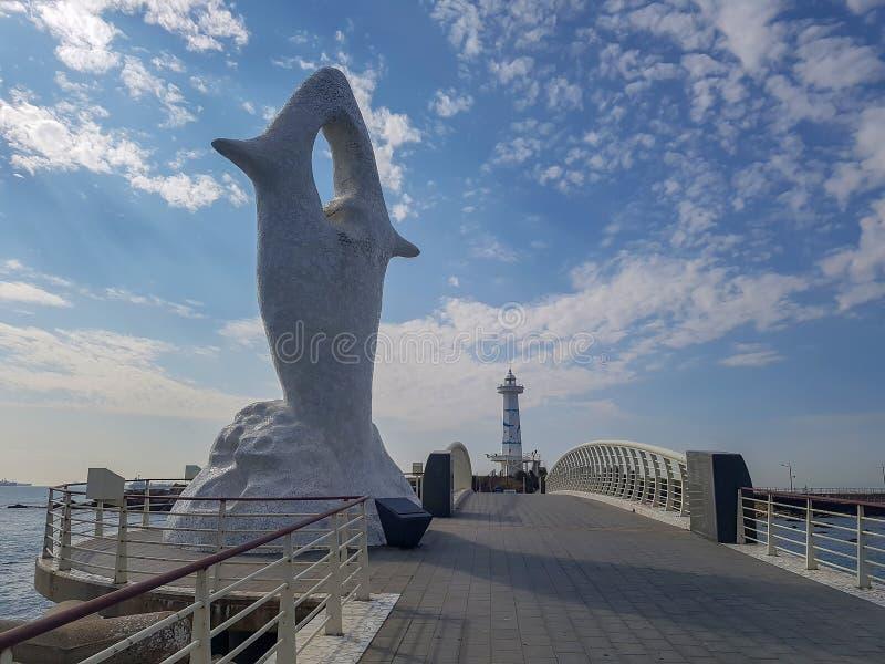 On the way to Seuldo Lighthouse in Ulsan, South Korea royalty free stock photo