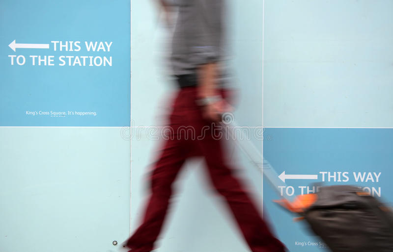 Download This way to the station editorial stock photo. Image of illustration - 33539493