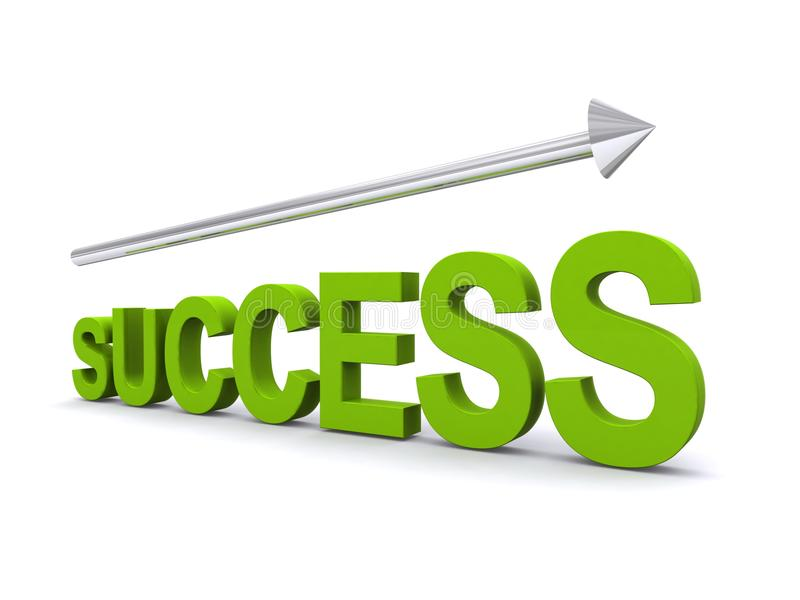 This way to success royalty free illustration