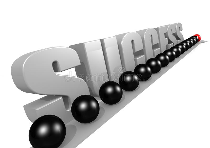 Download Way to success stock illustration. Image of contrasts - 26667056