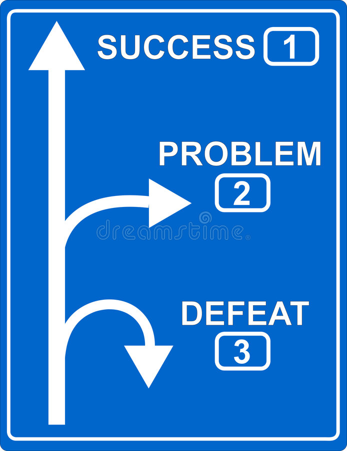Way to success. A blue highway sign in european style showing the way to success royalty free illustration