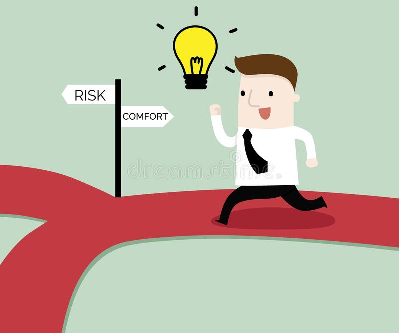 The way to success concept. Vector and illustration business concept cartoon royalty free illustration