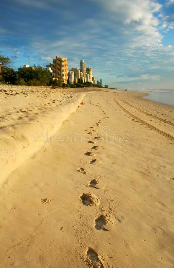 The Way To Surfers Paradise stock photography
