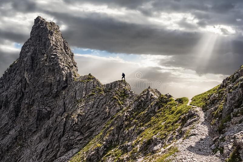 On the Way to the Top stock images