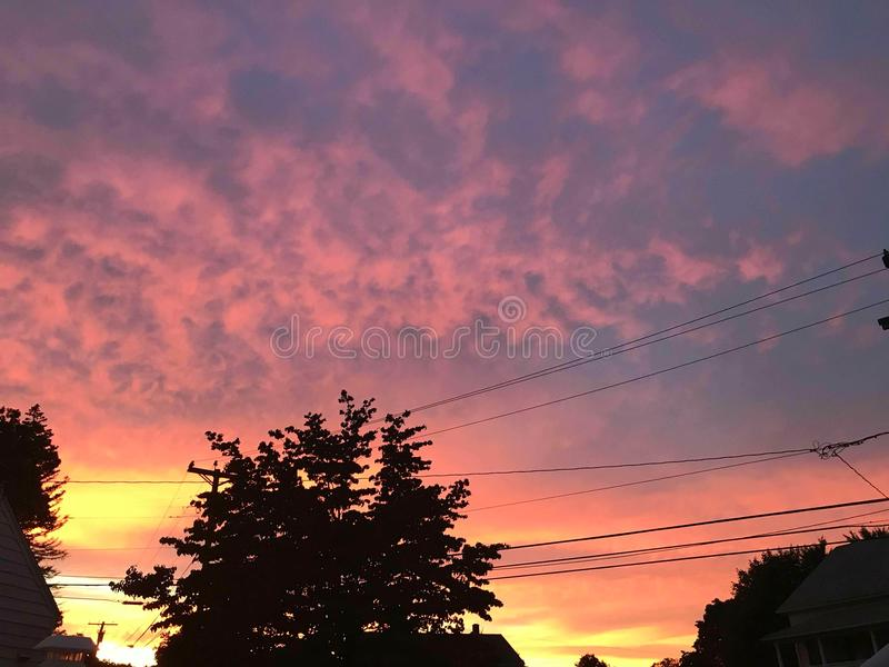 Trapped sunset royalty free stock image