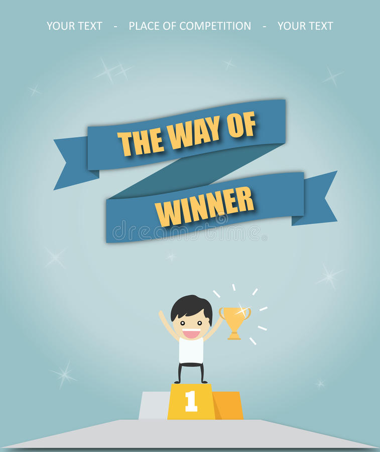 The way of winner royalty free stock photos