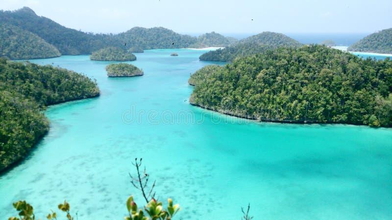 Wayag archipelago, Raja Ampat, Papua stock images