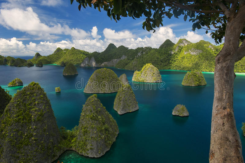 Wayag, Raja Ampat. View Wayag, from the hill at Raja Ampat Papua Indonesia stock photos