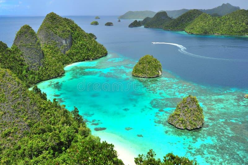 Wayag, Raja Ampat. View Wayag, from the hill at Raja Ampat Papua Indonesia royalty free stock photo