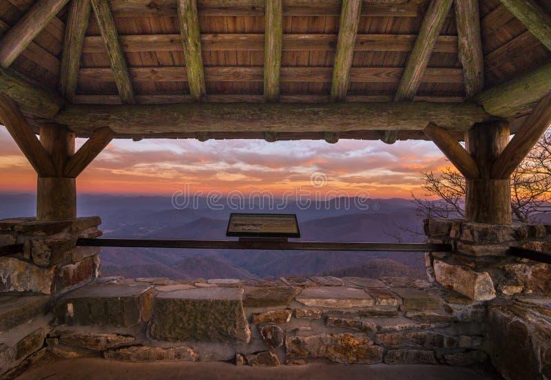 Wayah Bald Sunset stock photos