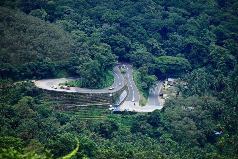 Thamarassery Churam-Wayanad. Wayanad Churam Wayanad Ghat Pass, popularly known as Thamarassery Churam connects Kozhikode and Wayanad districts of Kerala State in stock photos