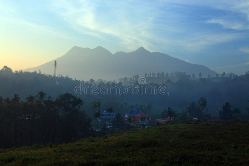 Wayanad-Landschaft lizenzfreie stockbilder
