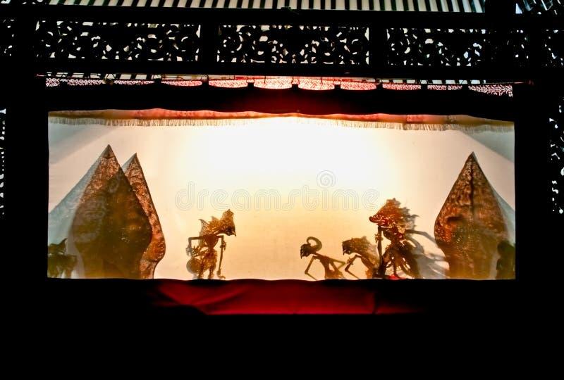 Wayang Kulit no museu de Sonobudoyo, Yogyakarta, Indonésia. imagens de stock