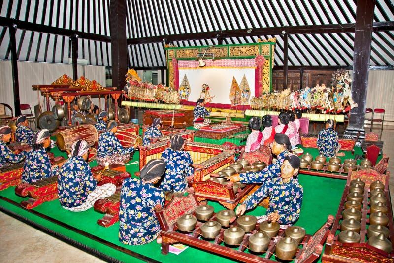 Wayang Kulit w Yogyakarta na Jawa, Indonezja. zdjęcie stock