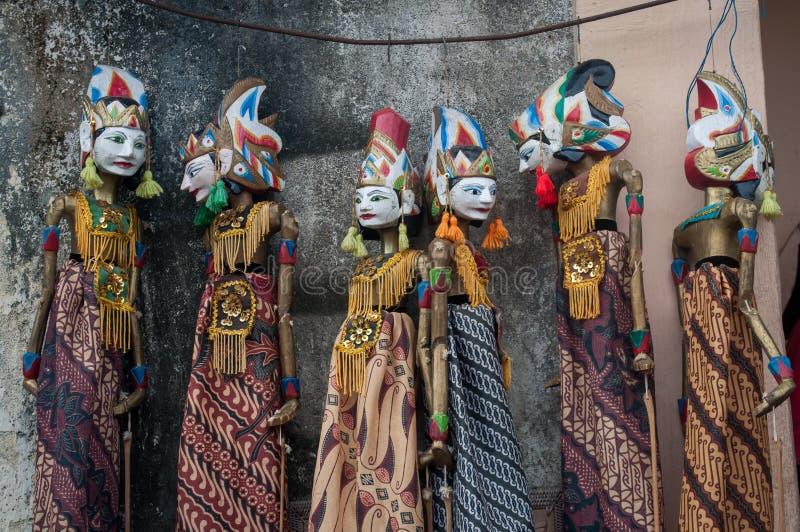 Wayang in tenganan de marionettencultuur van dorpsbali Indonesië stock fotografie
