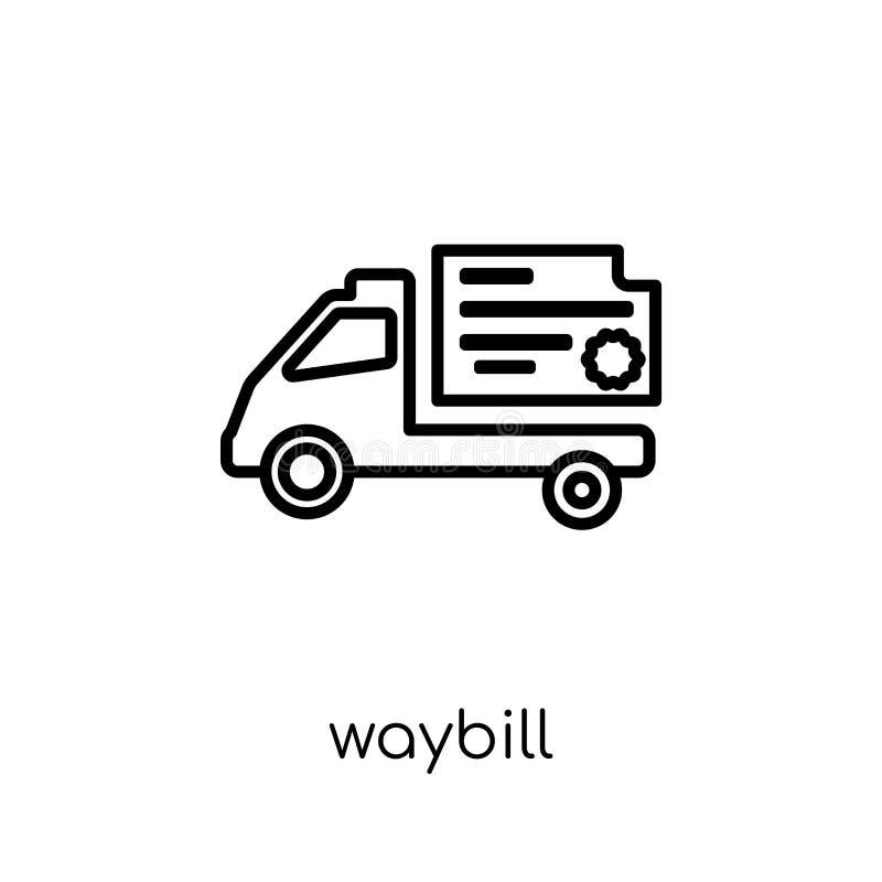 waybill ikona od dostawy i logistycznie kolekcji ilustracja wektor