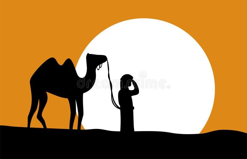 Wayfarer der Wüste stock abbildung