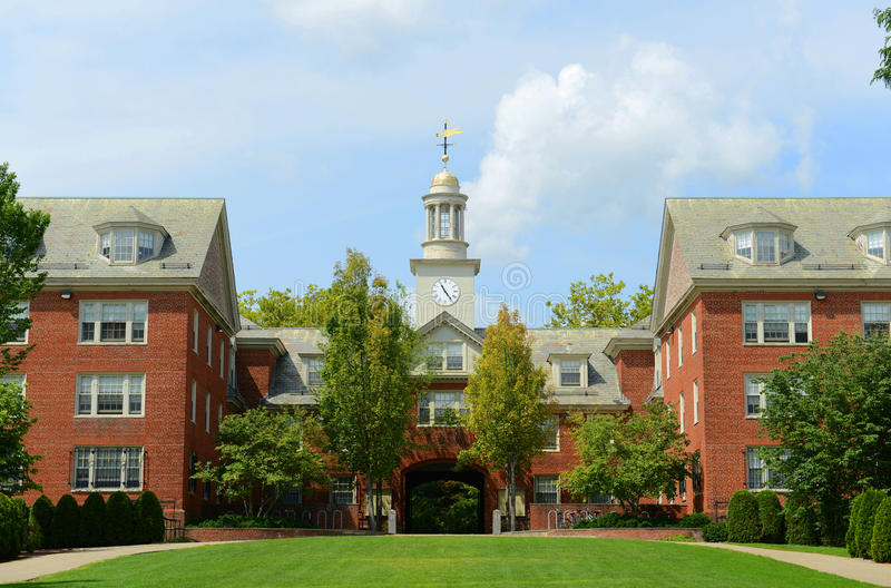 Wayland Hall Brown University, försyn, USA arkivbilder