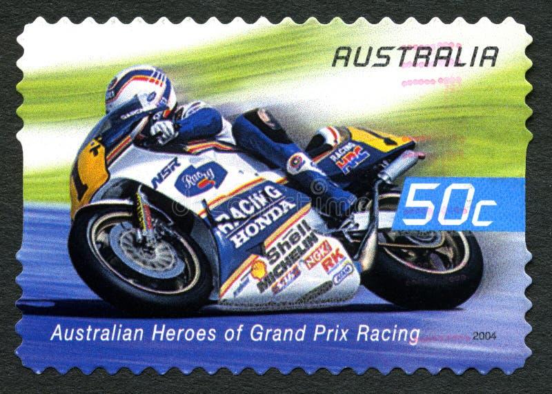 Wayne Gardner Australian Postage Stamp imagem de stock