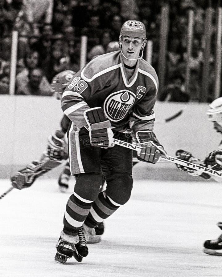 Wayne Gretzky Edmonton Oilers royaltyfria foton