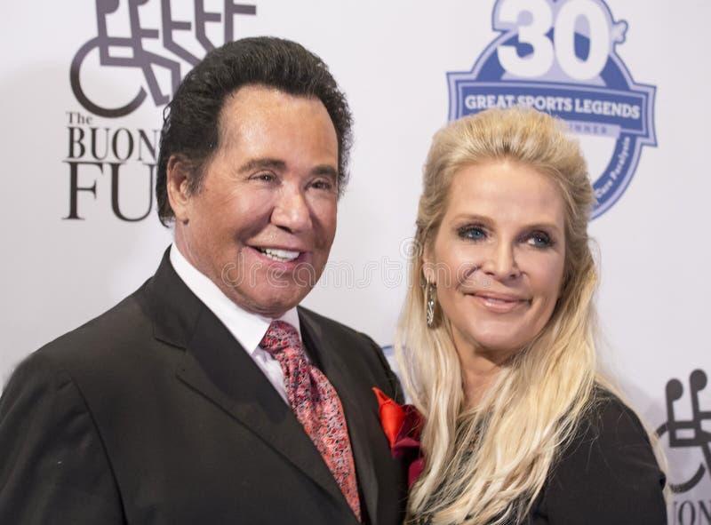 Wayne Newton en Kathleen McCrone royalty-vrije stock afbeeldingen