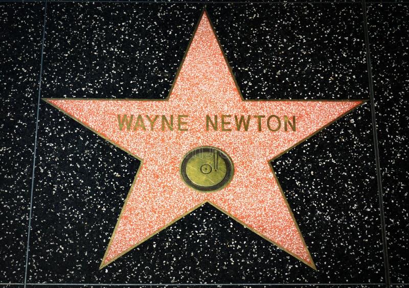 Wayne Newton Star op de Hollywood-Gang van Bekendheid royalty-vrije stock fotografie