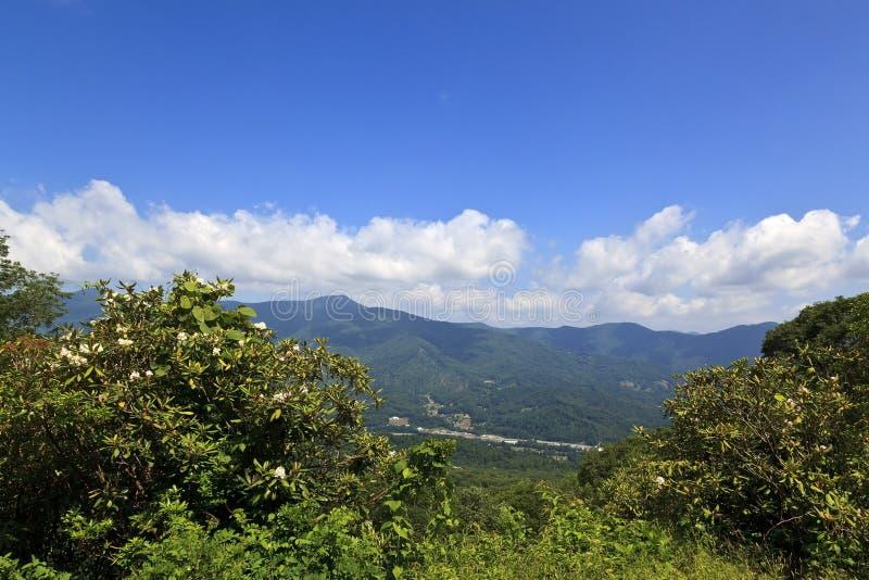 Waynesville, la Caroline du Nord, vue des montagnes images libres de droits